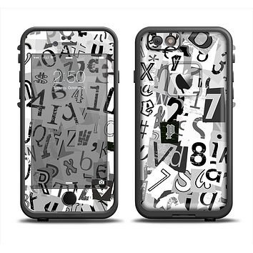 The Newspaper Letter Collage Apple iPhone 6 LifeProof Fre Case Skin Set