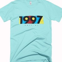 1997 light aqua color T Shirt Size S,M,L,XL,2XL,3XL