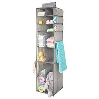 Fabric Hanging Baby Nursery Organizer for Clothing, Blankets, Diapers - 16 Compartments, Gray