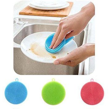Dish Washing Sponge Scrubber Cleaning Brush Pad
