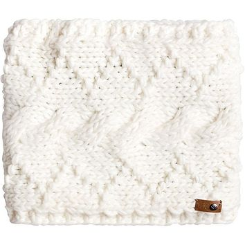 Roxy Winter Neck Warmer - BRIGHT WHITE