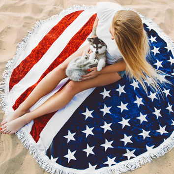 Flag Printed  Beach  Tapestry B0013995