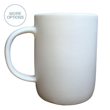 Matte Porcelain USA Made Mug- Extra Large
