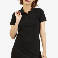 Tabbi Polo Dress - Black