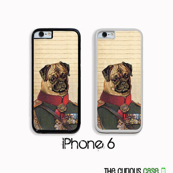 iPhone 6 Proper Pug Case | Hard Case For iPhone 6  Plastic or Rubber Trim