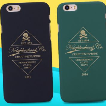 Personality trend black and green mobile phone case for iphone 5 5s SE 6 6s 6Plus 6S Plus+ Nice gift box!