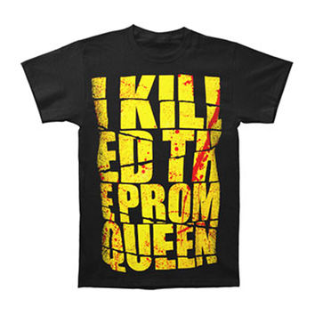 I Killed The Prom Queen Men's  Kill Bill T-shirt Black Rockabilia