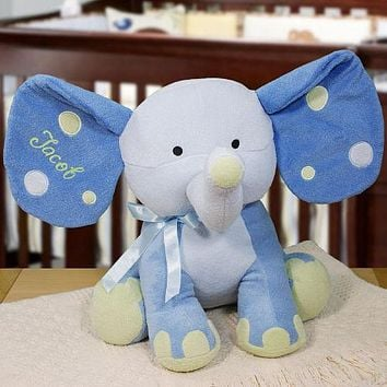 Baby Boy Embroidered Elephant