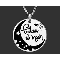 Follow The Moon Necklace