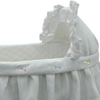 Short Pique-Fleece Bassinet Liner/Skirt and Hood - Size: 16x32
