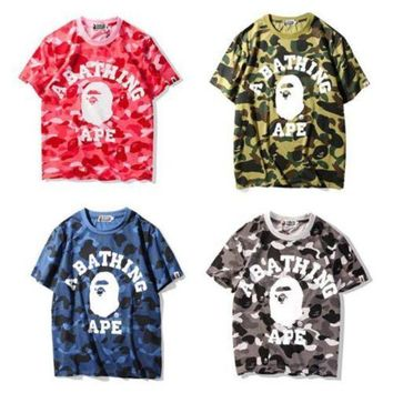 CREYONBX Japan Bape Camo Monkey Round Neck a bathing ape T-Shirt S-XXL