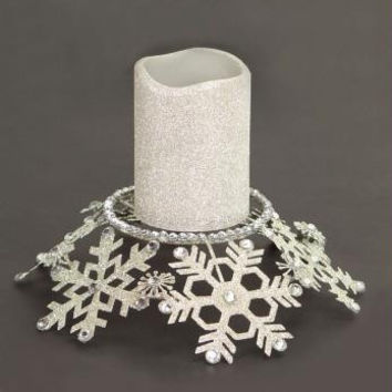 Candle Holder - Snowflake Theme