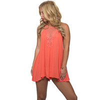 Sand In My Hair Romper In Coral
