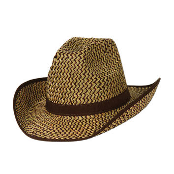 Beistle Party Decoration 2-Tone Western Hat w/Brown Trim & Band- Pack of 60