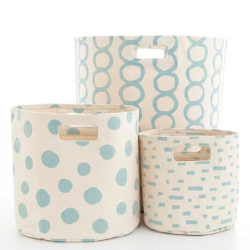 Canvas Sky Storage Bins