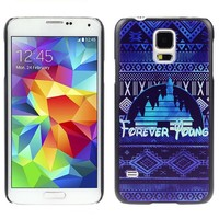 PETREL 2015 New Brand Forever Young Case Cover for Samsung Galaxy S5 I9600 -Blue