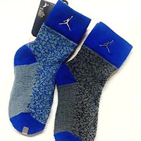 Air Jordan 2 Pairs/Pack Toddler Boys Crew Socks, 10C-3Y/5-7