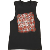 Ramones Women's  Plaid Womens Tank Black