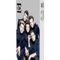 One Direction Boyband Poster Custom Case for Iphone 5/5s Iphone 6/6 Plus Black and White (iPhone 5/5s White Plastic)