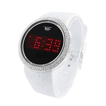 Digital Touch Screen Iced Out Watch