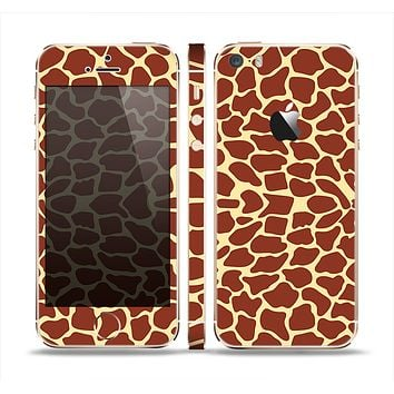 The Simple Vector Giraffe Print Skin Set for the Apple iPhone 5s