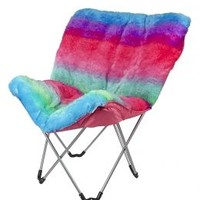 Rainbow Faux Fur Butterfly Chair | Girls Clearance Beauty, Room & Toys Sale & Clearance | Shop Justice