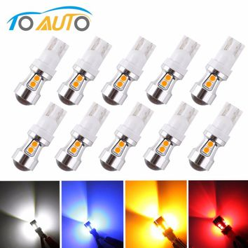 10 PCS T10 10 smd Canbus OBC Error Free Bulbs Interior LED DRL 194 W5W Car lamps  Auto Lights Xenon White /Red/Blue/Amber