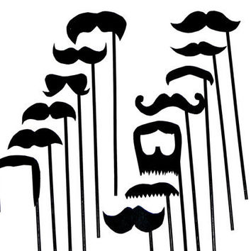 Mustache On A Stick Wedding Photo Booth Props Set by IncrediblyHip