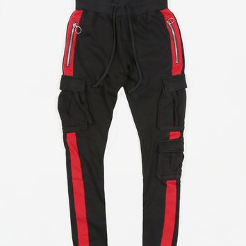 Red Stripe Cargo Sweatpant