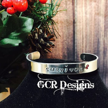 "Customized ""Survivor"" Cuff Bracelet"