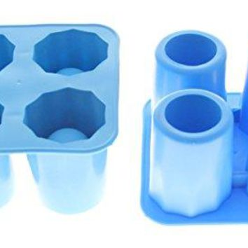 JustNile Cool Shot Glass Ice Mold 2-Pack (Makes 4 each)