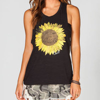 O'neill Sunflower Shredder Womens Tank Black  In Sizes