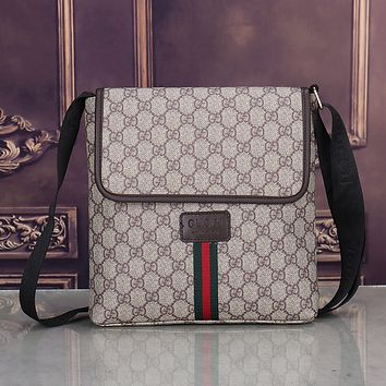 Boys & Men GUCCI Leather Office Bag  Satchel Shoulder Bag Crossbody