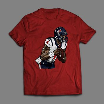TEXAN'S DESHAUN WATSON CUSTOM ARTWORK T-SHIRT