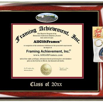 AllGiftFrames Custom Diploma Frame Embossed IUPUI Best Graduation Degree Frame Indiana University Purdue Double Mat Campus Fisheye Picture Frame Cheap Degree Gift