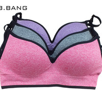 B.BANG 2016 Deep V Plunge Bras for Women Seamless Underwear Intimates Crop Top Adjustable Strap Sexy brassiere for Ladies