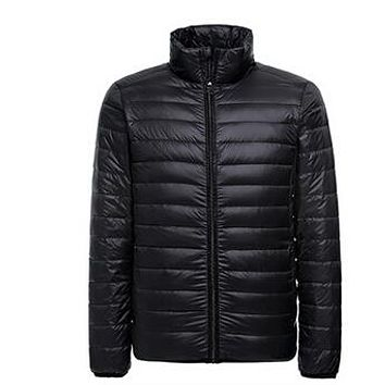 NEW Autumn Winter Duck Down Jacket, Ultra Light Thin winter jacket for men Fashion mens Outerwear coat