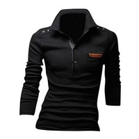 Jeansian Mens Dress Casual Slim Fit Long Sleeve Polo T-Shirts