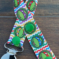 Teenage Mutant Ninja Turtles Pacifier Clip/Ninja Turtles Paci Clip/Ninja Turtles Toy Clip/Ninja Turtles Teething Ring Holder/TMNT Baby