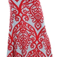 Paisley Jersey Skirt*** maxi jersey skirt with folded