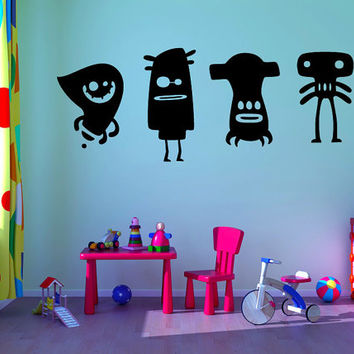 "Monsters kids room vinyl wall decal graphic set 14""x32"" Home Decor"