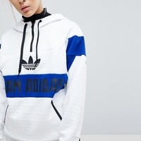 adidas Originals Panel Pullover Hoodie at asos.com