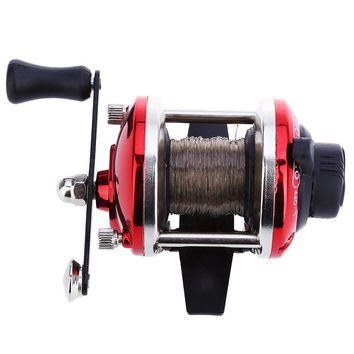 Mini Right Hand Drum Fishing Reel Low Price Fishing Reel Wire Winder with 0.2mm Line 50m for Sea Beach Rock River Carp fishing