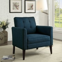Jacob Contemporary Style Dark Blue Accent Chair