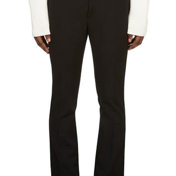 Raf Simons- Sterling Ruby Black Classic Pleated Trousers