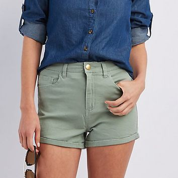 "Refuge ""Hi-Rise Roll-Up"" Shorts"
