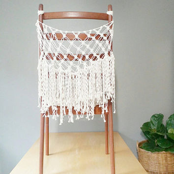 Macrame Bunting -Macrame Accent~ Bohemian Furniture~ BohoChic Decor~ Wedding Decor~ White Accent- Bohemian Decor- Bedroom Decor- Gypsy