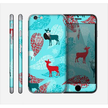 The Blue Fun Colored Deer Vector Skin for the Apple iPhone 6