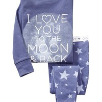 "Old Navy ""Love You To The Moon"" Sleep Sets For Baby"