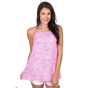 Emmie Tank in Ruffle Some Feathers by Lauren James